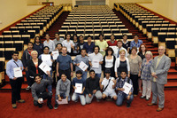 The graduation ceremony of students of English Langugage Course