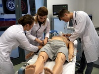 During classes in Medical Simulation Centre