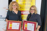 Prof. Edyta Szurowska, Vice-Rector for Clinical Affairs of the Medical University of Gdańsk with The MUG Spokeswoman Joanna Śliwińska Ph.D.
